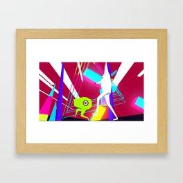CUBIST HELL Framed Art Print