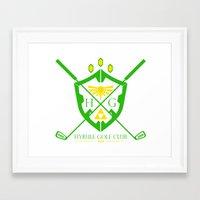 hyrule Framed Art Prints featuring Hyrule Golf by reyrol