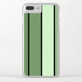 Green Stripes Clear iPhone Case