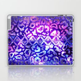 TRIBAL LEOPARD GALAXY Animal Print Aztec Native Pattern Geometric Purple Blue Ombre Space Galactic Laptop & iPad Skin