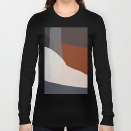 Navy & Rust VIII Abstract Long Sleeve T-shirt
