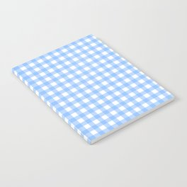 Sky Blue Gingham Notebook