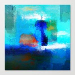 Sunset sailing Canvas Print