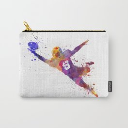 american football player catching ball  silhouette Carry-All Pouch