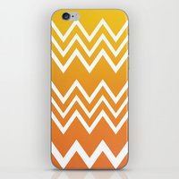 tequila iPhone & iPod Skins featuring Tequila Sunrise by Color and Form