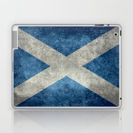Scottish Flag - Vintage Retro Style Laptop & iPad Skin