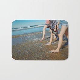 Walking On The Beach Bath Mat