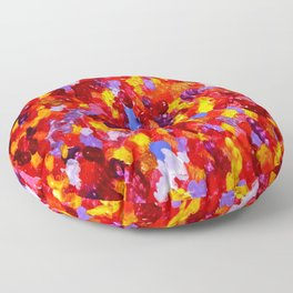 Abstract Red 002 Floor Pillow