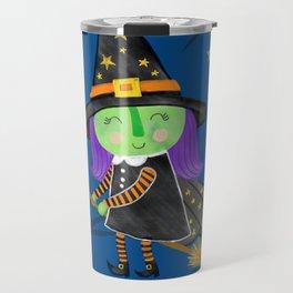 Cute Halloween Witch Travel Mug