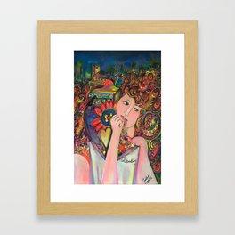 Colourfully celebrating Framed Art Print