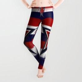 Tricolor Stars Stripes Leggings