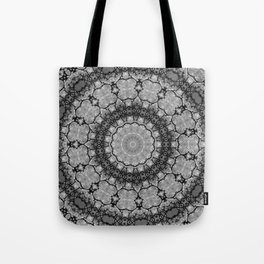 Black and White Lace Mandala A541B Tote Bag