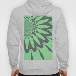 The Modern Flower Pastel Green Gray Hoody