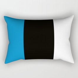 Team Colors 7...light blue, black, white Rectangular Pillow
