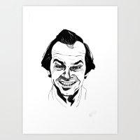jack nicholson Art Prints featuring Jack Nicholson by Giorgia Ruggeri