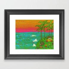 VW Beatle Bug Surf Paradise Adventure Framed Art Print