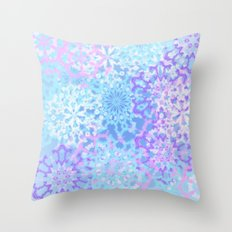 Pastelflakes Throw Pillow