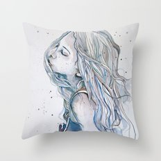 Breeze (variant II), watercolor painting Throw Pillow