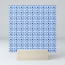 Moon and polkadot Mini Art Print