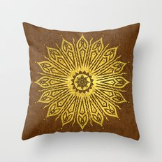 ozorahmi copper mandala Throw Pillow
