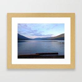 beachy sunset Framed Art Print