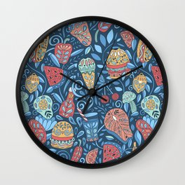 Summer cookout Wall Clock