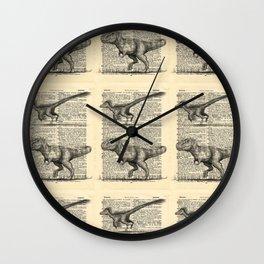 Dictionary Dinosaurs Wall Clock