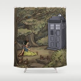 Escape from the Dark Forest Shower Curtain