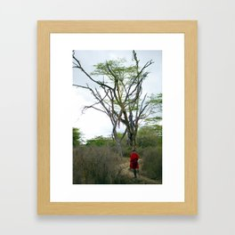 Masai Warrior Framed Art Print