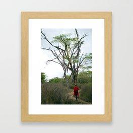Masai Warrior Framed Art Print