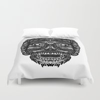 dracula Duvet Covers featuring Dracula by Jamie Bryan