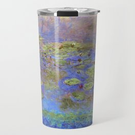 Water Lillies - Claude Monet (indigo blue) Travel Mug
