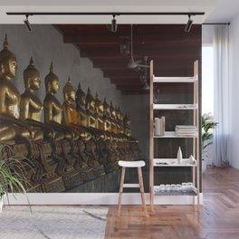 Buddha in a Row Wall Mural