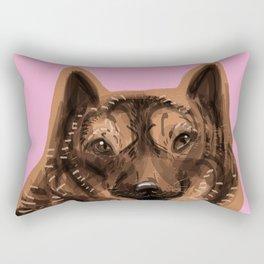 Kai Ken ( Tiger dog) Rectangular Pillow