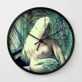 SEXY ART NUDE BLOND LADYKASHMIR Wall Clock