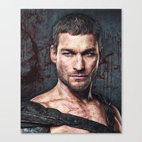 gladiator Canvas Prints featuring gladiator by natira's art
