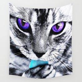 Purple eyes Cat Wall Tapestry