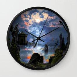 Ghost Blue Wall Clock