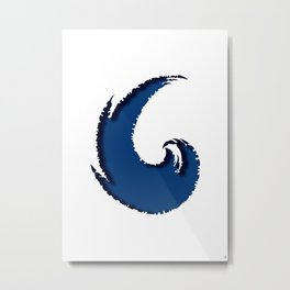 - the cut wave - Metal Print