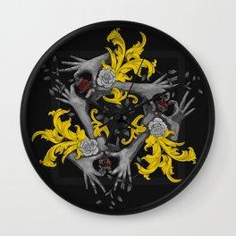 Hands and Hearts Wall Clock