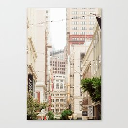 San Francisco Daydreaming in Union Square Canvas Print