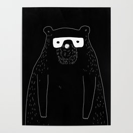 Bear with glasses Poster