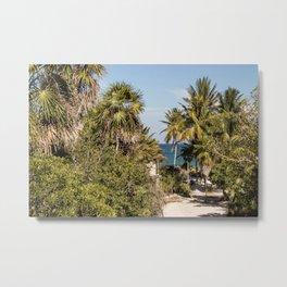 Beach Jungle Metal Print