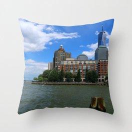 Manhattan And Hudson River Throw Pillow