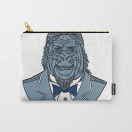 Gorilla Tuxedo Jacket Monoline Color Carry-All Pouch