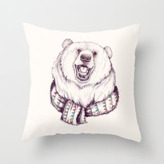 Bear & Scarf Throw Pillow