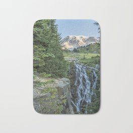 Early Morning at Myrtle Falls Bath Mat