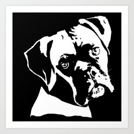GIFTS FOR BOXER DOG LOVERS FROM MONOFACES IN 2021 Art Print