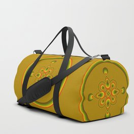 70s Circle Designs - Orange, Brown, Green Duffle Bag