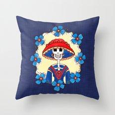Catrina Doña Amelia Throw Pillow